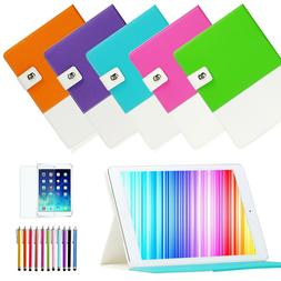 Cute Hybrid Folio Leather Smart Case Cover Stand for Apple i