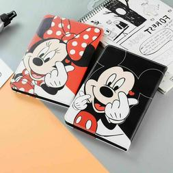 Cute Mickey Mouse Minnie PU Leather Case for iPad Series Dis