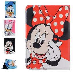 Cute Minnie Mickey Mouse PU Leather Case for iPad Series Dis