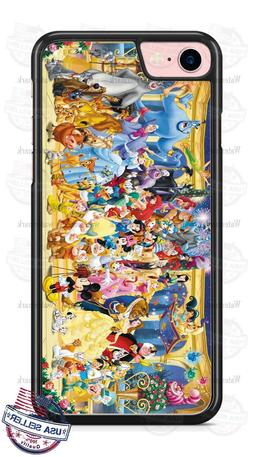 Disney Characters Group Phone Case for iPhone X 8 PLUS Samsu