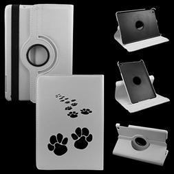 Dog Footprint iPad Mini 1 2 3 White Cover Synthetic Leather