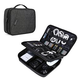 BAGSMART Double Layer Travel Universal Cable Organizer Cases
