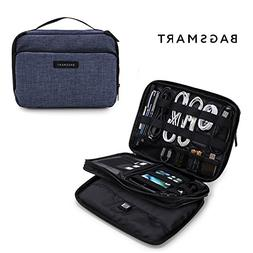 BAGSMART 3-Layer Travel Electronics Cable Organizer with Bag