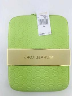 MICHAEL KORS ELECTRONICS Lime Green NEOPRENE LOGO IPAD TABLE
