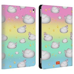 Official Emoji Clouds Unicorns Leather Book Wallet Case Cove