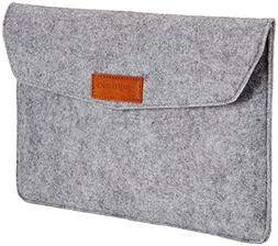 AmazonBasics 11-Inch Felt Laptop Sleeve - Light Grey