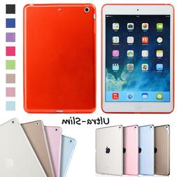 Flexible Clear Soft Silicone Back Case Cover For Apple iPad