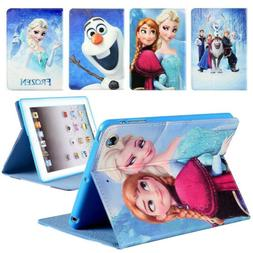Disney Frozen Kids Cartoon Leather Cover Case For iPad 2 3 4