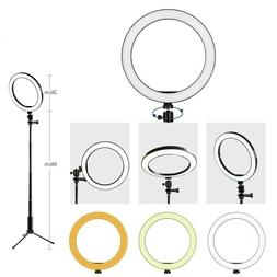 "10"" LED Light Ring w/Stand Mount Kit & Selfie Stick For Live"
