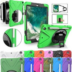 Heavy Duty Hand Shoulder Strap Stand Case for iPad 9.7 6th G