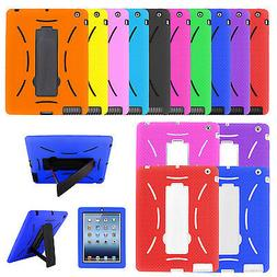Heavy Duty Rugged Hybrid Shockproof Armor Case Cover Stand f