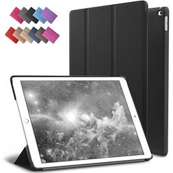 iPad Mini 4 Case, ROARTZ Black Slim Fit Smart Rubber Coated