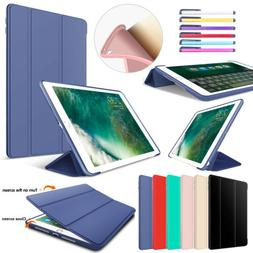 For iPad 10.2 9.7 Air 2 Mini 5 Smart Silicone Folio Stand Sh