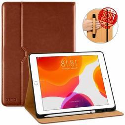 iPad 10.2 Inch Case 2020/2019 Leather Folio Stand Smart Cove