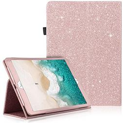 iPad Pro 10.5 Case, UrbanDrama Glitter Sparkle Folio Folding
