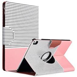 ULAK iPad Pro 10.5 Case, Multi-Angle 360 Degree Rotating Sta