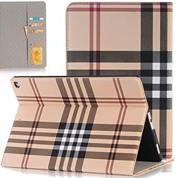 iPad Pro 12.9 Case 2015 / 2017, SAVYOU Grid Pattern Design S