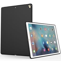 iPad Pro 12.9 2017 Case, SENON Slim Design Matte TPU Rubber