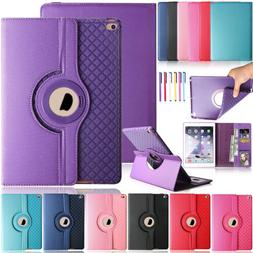 "For iPad 2 3 4/Air 2/Pro 9.7"" 360 Rotating Smart Leather Wal"