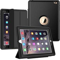 SEYMAC iPad 4th Generation Case, iPad 2 Case Heavy Duty Full