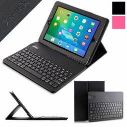 iPad 3 4 Bluetooth Keyboard Case Wireless Detachable Leather