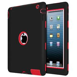 BENTOBEN For iPad 2 3 4 Heavy Duty Hybrid Impact Resistant P