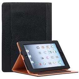 JYtrend iPad 2 /iPad 3 /iPad 4 Case, Multi-Angle Viewing Sta