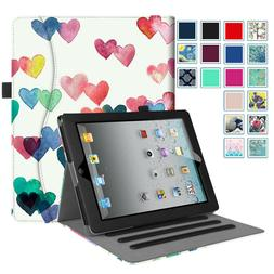 For iPad 2 A1395 or A1396 Folio Case Multi-Angle Viewing Sta