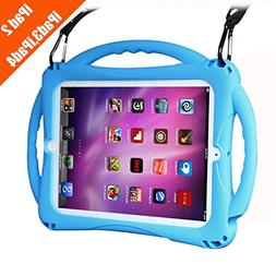 TopEsct iPad 2 Case for Kids, Shockproof Silicone Handle Sta