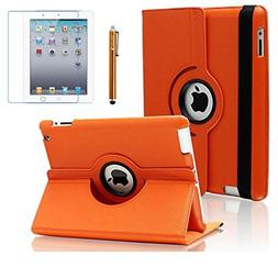 AiSMei Case for iPad 4 , iPad 3 , iPad 2 , Rotating Stand Ca
