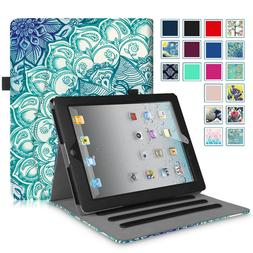 For iPad 2 iPad 3 iPad 4 Case Multi-Angles Folio Smart Stand