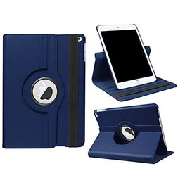 "New iPad 2017 9.7"" / iPad Air 2 Leather Case,360 Degree Rota"