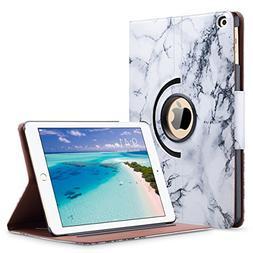 ULAK iPad 2018/2017 iPad 9.7 inch Case, iPad Case Marble, Sl