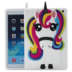 New iPad 9.7 inch 2017 Case Unicorn, Awsaccy Cute Cool 3D Un