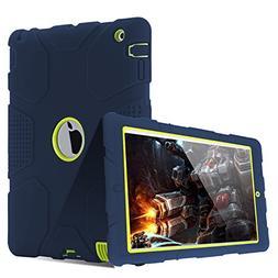 TOPSKY iPad 4 Case,iPad 2 Case,iPad 3 Case,  Shock-Absorptio