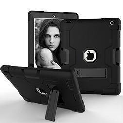 iPad 2 3 4 Case,Shockproof Silicone & PC Hybrid Heavy Duty B