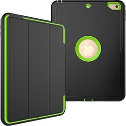 iPad 2 3 4 Case,Shock Absorbing PU Leather Smart Cover with