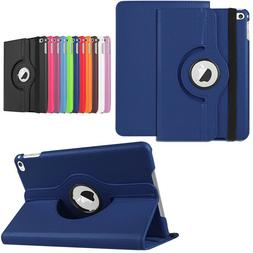 For iPad 6th Generation 9.7 Model Leather Smart Cover 360 Ro