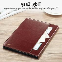 ESR iPad 6th/Pro 9.7 Brown Espresso Leather Folio Pencil Sta