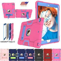 """For iPad 7th 8th Gen 10.2"""" Hybrid Rubber Case Stand Shockpro"""