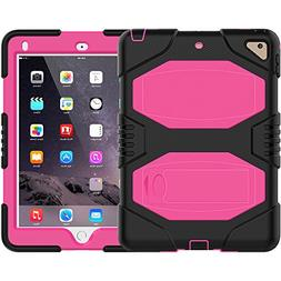iPad 9.7 2018/2017 Case, ZERMU Heavy Duty Shockproof Rugged