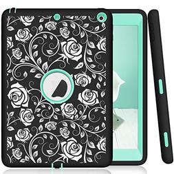 Hocase iPad 9.7 2018/2017 Case Heavy Duty Shockproof Silicon