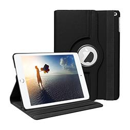 SYNTAK iPad 9.7 2018 / 2017 Case,360 Degree Rotating Stand F