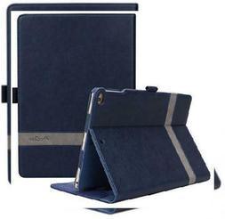 ProCase iPad 9.7 2018/2017, Air 2, Case - Leather Stand Navy