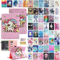 For iPad 9.7'' 2018/6th Gen Smart Cute Pattern Leather Stand