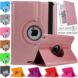 "Apple iPad 9.7"" 360 Rotating Leather Smart Stand Case Cover"