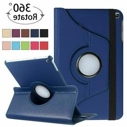 For iPad 9.7 5/6th 7th 8th Gen 10.2 Leather Smart Case Rotat