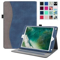 """For iPad 9.7"""" 6th Gen 2018 Multi-Angle Folio Case Cover w/Po"""