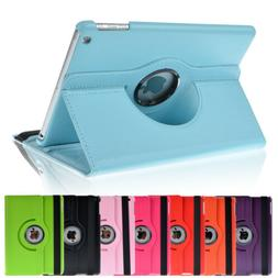 For iPad 9.7 6th Gen/5th 2017 360° Rotating Leather Smart S