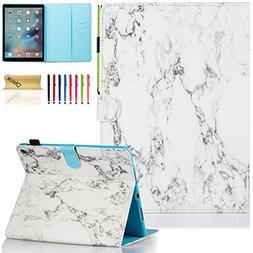 iPad Pro 9.7 Case, Dteck Slim Fit Folio Stand Leather Case w